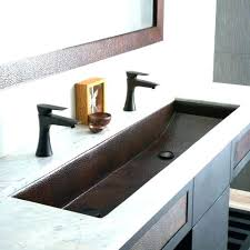 trough sink with 2 faucets large bathroom sink with two faucets one large sink with two faucets