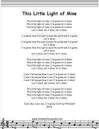 this little light of mine lyrics printout midi and video