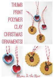 thumb print polymer clay ornaments