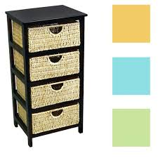 Compact Storage Cabinets 4 Drawer Compact Wicker Basket Storage Shelf Free Shipping Today