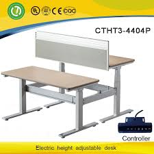 Height Of Reception Desk Malaysia Electric Height Adjustable Frame Metal Desk Legs U0026office