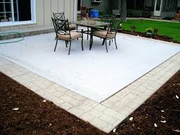 patio ideas concrete patio with border something similar to this