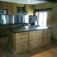 meuble cuisine en bois brut caisson cuisine bois facade meuble cuisine bois brut