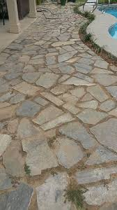 Flagstone Patio On Concrete by Cement Alternative For Flagstone Patio Joints Hometalk