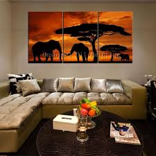 african print home decor hand paintd landscape oil painting on canvas modern africa group