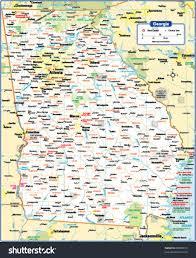 Map Atlanta Ga by Georgia State Map Stock Vector 88083010 Shutterstock