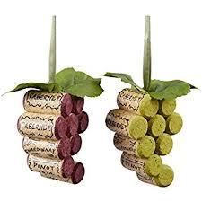 kurt adler wooden cork grape bunch tree