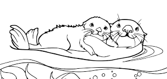 otter coloring pages getcoloringpages com