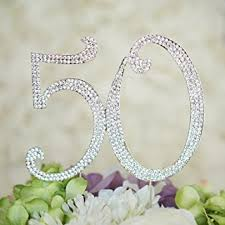 pearl monogram cake topper number 50 birthday anniversary cake topper