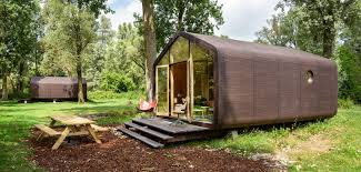 tiny house built of cardboard wikkelhouse makes it work curbed