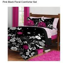 Black Floral Bedding Kids And Teens Twin Extra Long Size Bedding Sets Ebay
