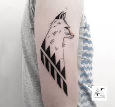 elegant minimalist tattoos made with dots lines and geometric