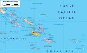 map of the islands detailed political map of solomon islands ezilon maps