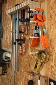 Wood Clamp Storage Rack Plans by Clamp Storage Systems Woodworking For Mere Mortals