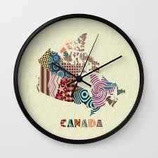 Wall Clocks Canada Home Decor | wall clocks canada home decor round white colorful abstract