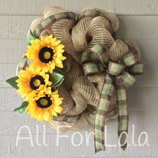 burlap sunflower wreath best sunflower and burlap products on wanelo