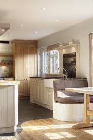 london kitchen bench seat traditional with tile floor white
