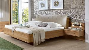 Contemporary Beds A Solid Wood Bed Frame Combines Traditional Med Art Home Design