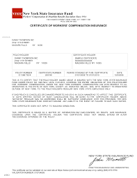 sample certificate of employment and compensation 12 best images of example of workers compensation certificate