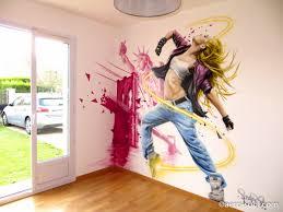 chambre danseuse décoration murale pour chambre d ado sur le thème york et hip hop
