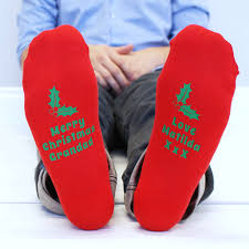 mens christmas socks personalised men s christmas socks by sparks and daughters