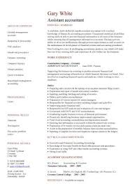 exle of accountant resume cv exle accountant pic assistant accountant cv 1 jobsxs