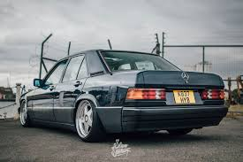 lowered mercedes 190e details about mercedes 190 diesel stance lowered split rims 190e