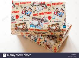 one direction wrapping paper christmas shoeboxes wrapped in one direction wrapping paper for