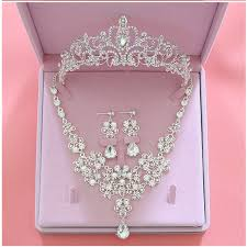 prom jewelry fashion wedding bridal jewelry sets tiara crown earring