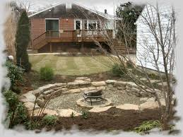 rustic sunken fire pit area backyard oasis pinterest sunken
