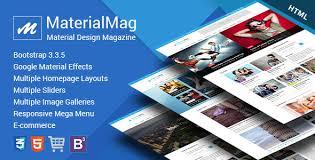 materialmag material design responsive template material