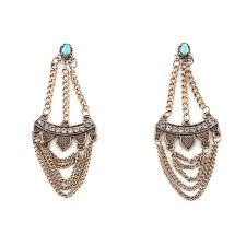 Chandelier Earrings India Statement Earrings Hippie Boho Aritos Ethnic Tassel Earrings