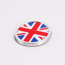 Car Antenna Flags Car Styling 36x36mm Round Sticker For Germany Union Jack Usa