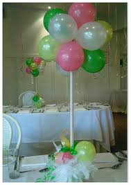 baby shower table centerpieces do it yourself balloon decorations balloon table centerpiece