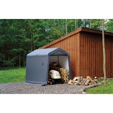 shelterlogic sport shed in a box snowmobile motorcycle shed u2014 10ft