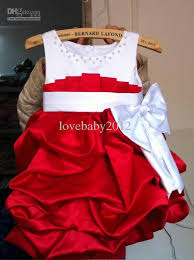red and white baby dress white dress
