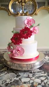 wedding cake nottingham orchids peonies wedding cake by gardner cakes buckinghams uk