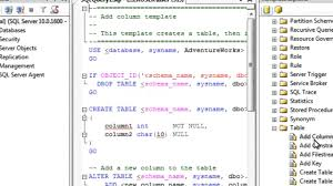 Sql Change Table Name Use A Sql Template To Change Table Settings Sql By