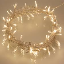 Battery Operated Light Strings by Set Of 2 Battery Operated Led String Fairy Lights 40 Led Bulbs 4m