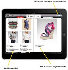 preview the ipad catalog software program