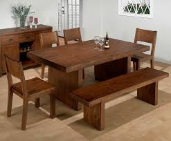 Natural Wood Dining Room Sets Dining Room Tables With Benches Homesfeed