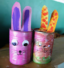 Easter Decorations Brisbane by Recycled Bunny Easter Decorations My Kid Craft