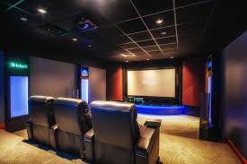 Cinetopia Living Room Theatre by Our Showroom Featuring A Projector Projector Screen 7 1