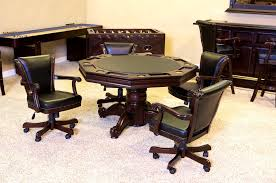 Poker Table Chairs With Casters by Furniture Drop Dead Gorgeous Cheastgatew Game Table Club Chairs