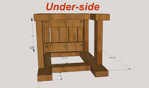 Plans For Building A Wooden Patio Table by How To Make Bar Stools
