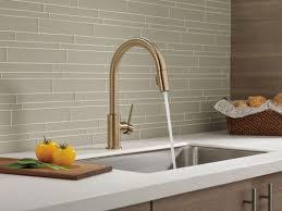 bronze kitchen faucets alluring chagne bronze kitchen faucet delta dst running in