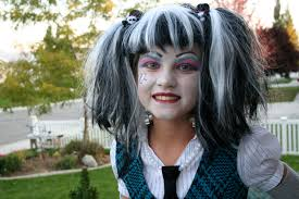 monster high frankie stein halloween costume idea and makeup
