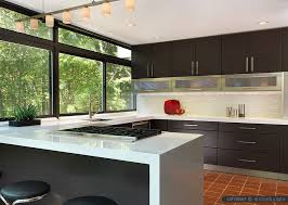 white quartz countertop modern kitchen cabinets and glossy white