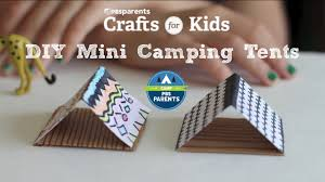 diy mini tents crafts for kids pbs parents youtube
