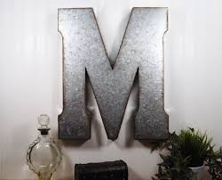 metal letters wall decor wall metal letter galvanized large metal letter 20 inch metal letter wall decor galvanized